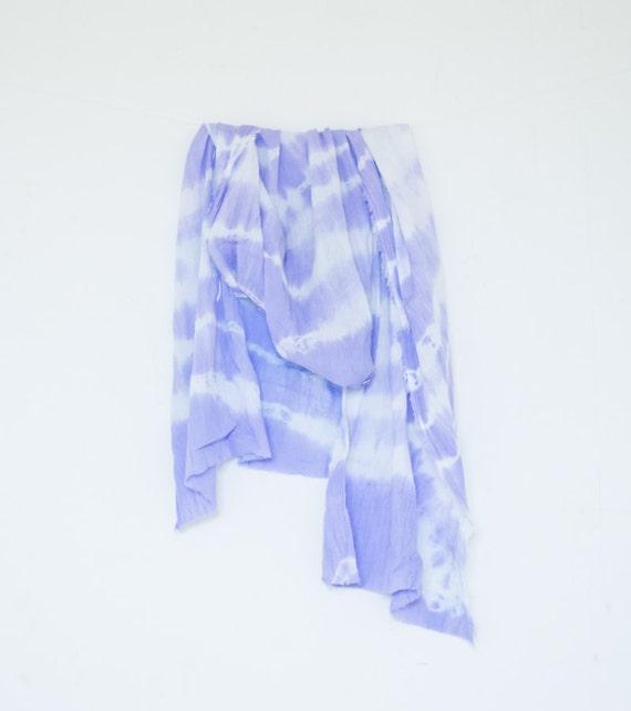 Purple cotton scarf- 40% SALE