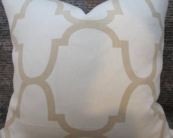 SALE Designer Pillow Cover - Lumbar, 16 x 16, 18x 18, 20 x 20, 22 x 22, Euro -Windsor Smith Collection Riad Ivory