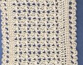 Crocheted Dollhouse Blanket Ivory