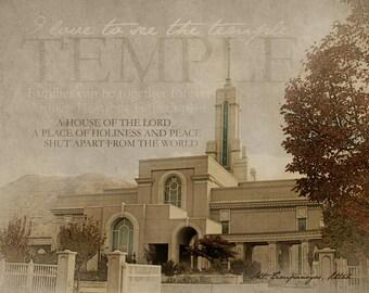 Mt. Timpanogos LDS Temple Print 16x20