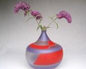 Hand blown decorative glass vase