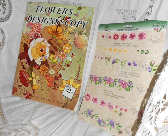 "Vintage art book by Lola Ades ""Flowers and Designs to Copy"