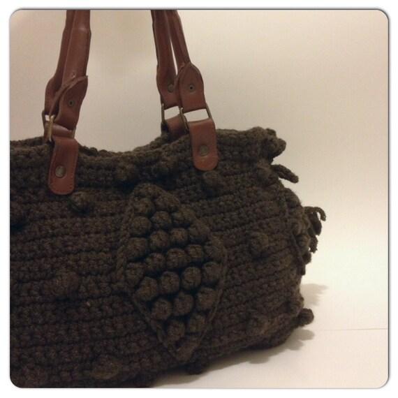 Brown Shoulder Bag - Zip Pocket