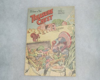 Rare Vintage Comic, 1946, Treasure Chest of Fun and Facts