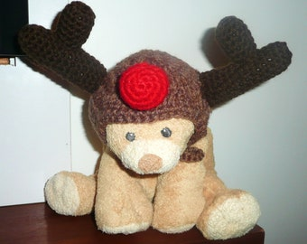 Rudolph the Red-Nosed Reindeer Hat PATTERN for Small Pet