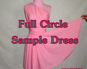 SAMPLE Infinity Convetible Wrap Twist Dress - Bridesmaids Dress - Please READ Before Purchasing - 37 Colors Available