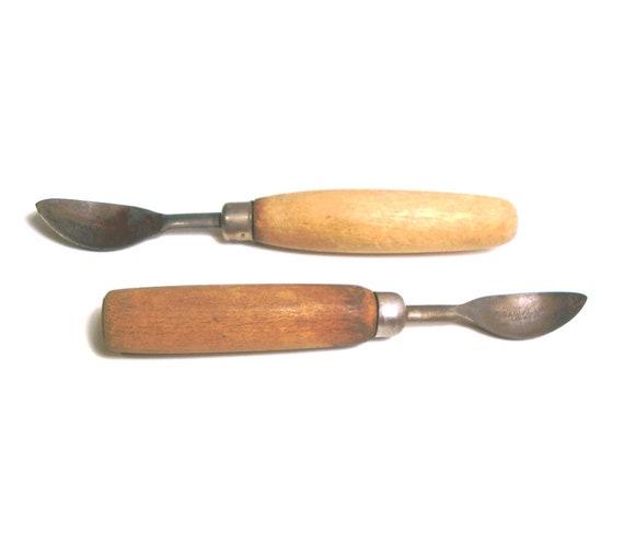 Vintage Paring Corer Wooden Handles 1930  American Pewter