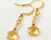 Citrine Star Dangle earrings