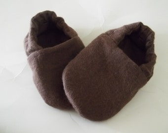 Baby Booties Brown Boy / Girl