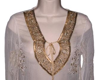 Tunic Silk Beaded Sale