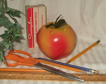 Vintage pencil holder apple pencil holder teacher gift apple for teacher desk accessory teacher apple teacher Christmas gift