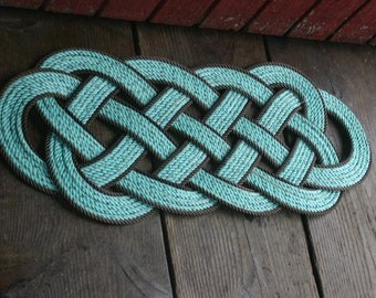 """Large Rope Rug Perfect at Lake, Beach, Cabin, or other Nautical Rustic spot 32 x 12"""" doormat"""