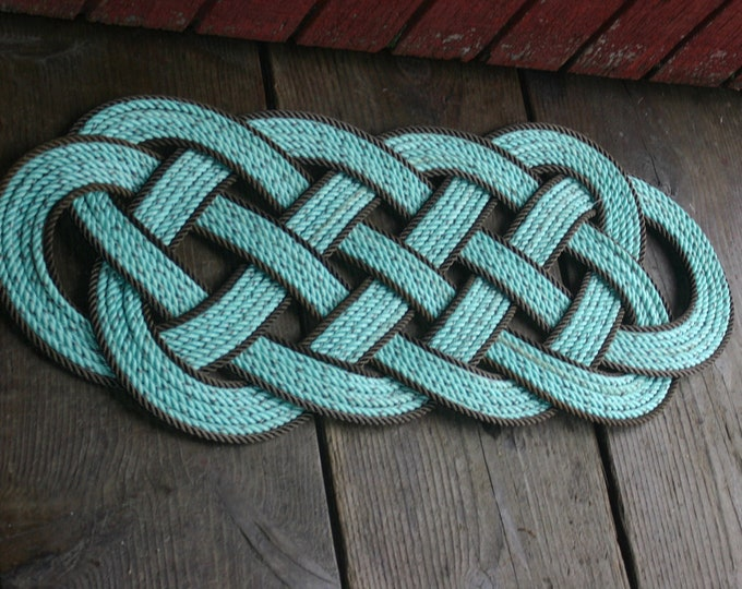 "Large Rope Rug Perfect at Lake, Beach, Cabin, or other Nautical Rustic spot 32 x 12"" doormat"