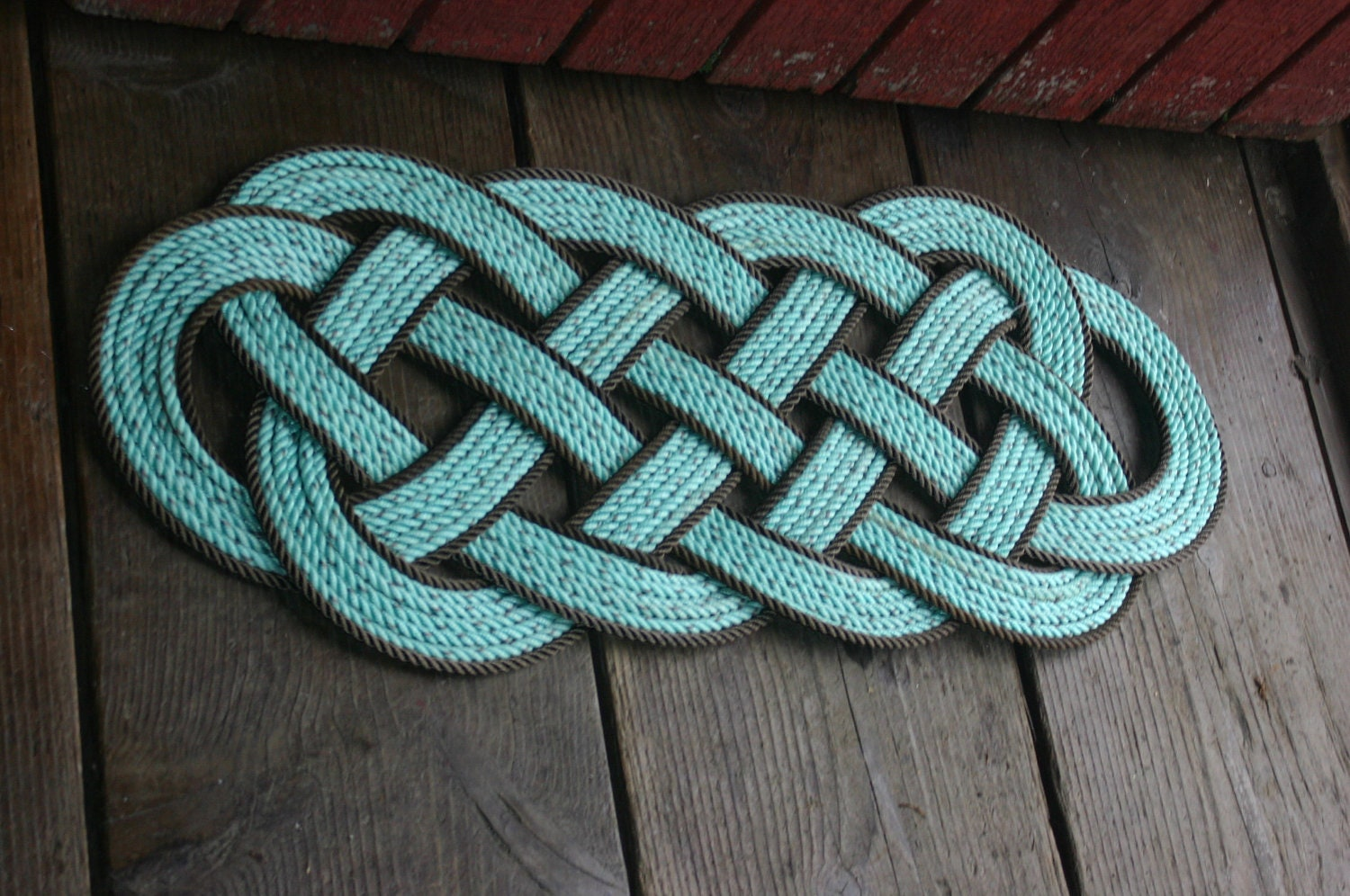 Large rope rug awesome at a lake house beach by for Rope carpet