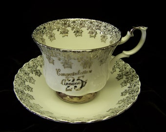 Royal Albert 25th Anniversary Cup and Saucer
