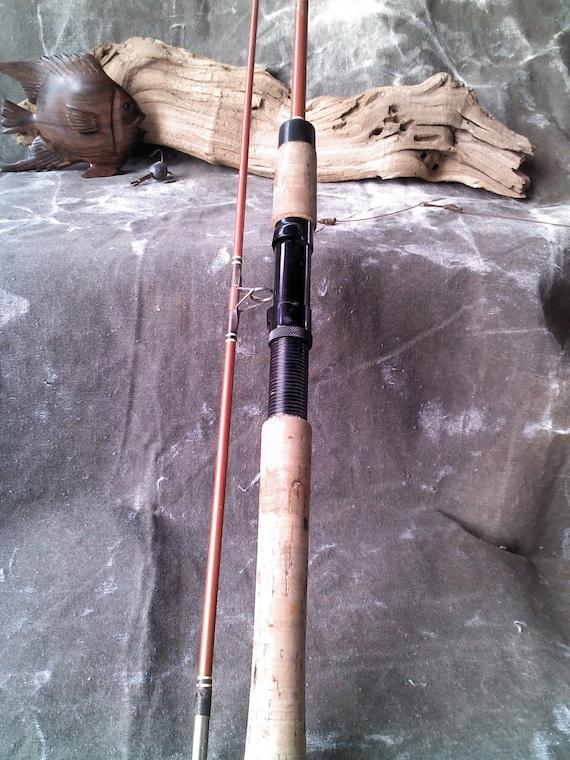 Vintage garcia 2 piece fishing rod by ptmacmercantile on etsy for Vintage garcia fishing rods