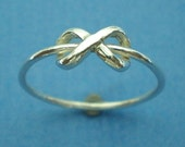 Silver Infinity Knot Ring - Best Friend Ring - Sister Ring - Knot Ring