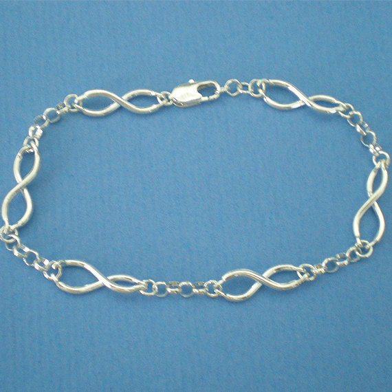 Sterling Infinity Bracelet - Infinity Jewelry - Knot Bracelet - Best Friend - Mother Daughter Present - Sister Gift - Now and Forever