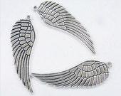 Bulk Metal Charm Wholesale Bead 15x48mm Wing Charm Lot 20 Loose Beads Bulk Wholesale Charm - 5042 Finding Jewelry Supply