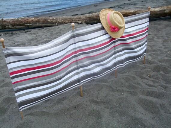 Beach Wind Break Grey/Pink Stripe BWB-04