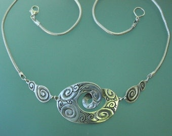 Salish Sea Necklace - sterling silver statement necklace