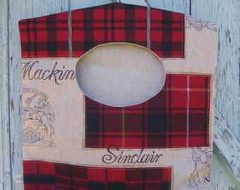 Clothes pin bag - laundry bag - plaid laundry bag - peg bag - housewarming gift - eco friendly - hostess gift