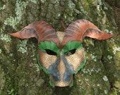 Earth Dragon Leather Mask Great for Halloween Burning Man Masquerade Costume LARP Cosplay Mardi Gras