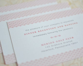 Small Invitation Insert: Woven Art Deco Reception Card or Invitation Insert