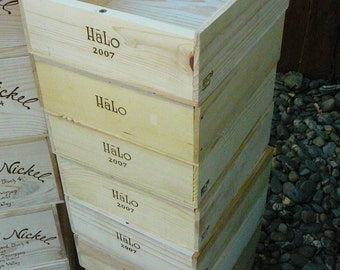 SALE Halo Crate / Wine Crates /Wooden Wine Crate / Wedding Display / Wedding Decor/ Wedding Card Box /  Tiny House Drawers