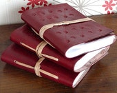5 Piece Small Leather Wrap Journal  Diary Notebook/sketchbook/planner Handmade Pages Pocket Size