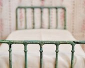 Doll Bed Shabby Chic Miniature Playscale, Barbie, Blythe
