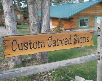 "Personalized Wooden Signs 45"" x8"" - Personalized Cabin Signs - Custom Routed Signs - Cedar Sign"