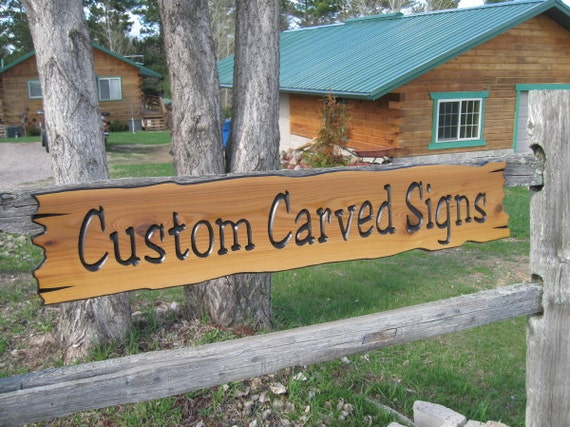 signs wooden personalized sign custom cabin x8 cedar routed