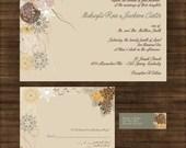 Pine Cone Wedding Invitation Set - Fir Tree - Winter Wedding - SAMPLE PACK