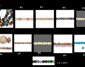 A Full Strand of Beads .. 15 or 16 inch strand ... You Pick which strand ... gemstones