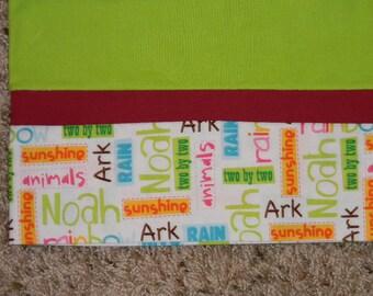 Green Noah's Ark Standard Pillowcase