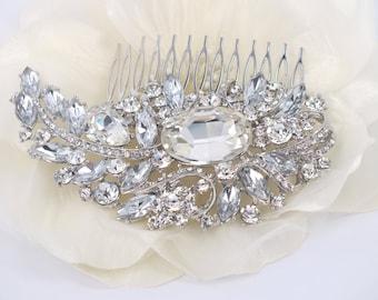 Garden Crescent - Swarovski Rhinestone Bridal Comb