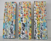 Made To Order-Choose Size-Colorful Aspen/Birch Tree Autumn Original Custom Art