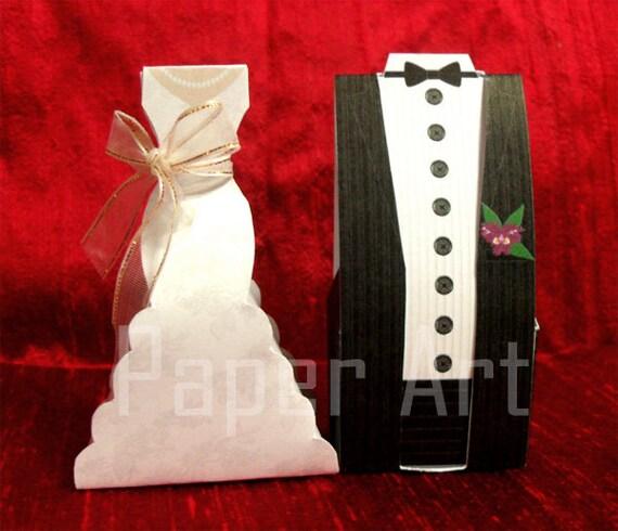Wedding Favor Boxes Trinidad : Items similar to pdf wedding favor boxes bride and groom