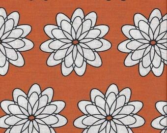 CLEARANCE!  Delight, French Bull, Windham Fabrics, Orange, Flowers, 1/2 Yard