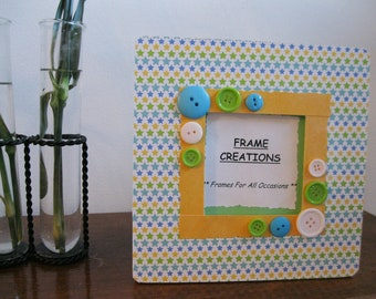 3.5 x 3.5 Star Themed - Hand Decorated Picture Frame