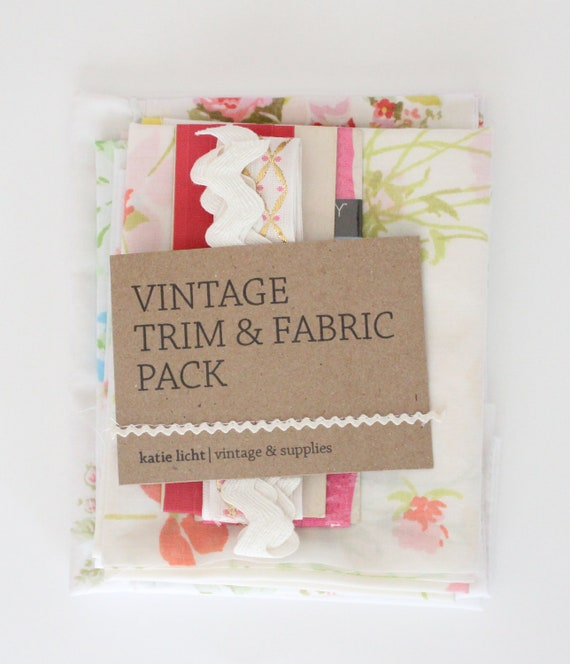 Vintage Fabric & Trim Pack
