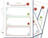 Christmas Shopping Guide - Printable
