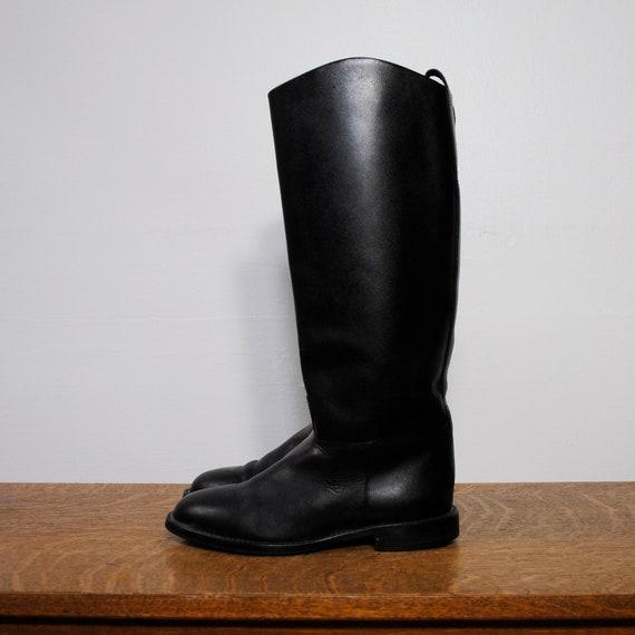 vintage riding boots / black leather (size 7)