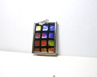Color Block Geometric Jewelry Blue  Black Red  leather  Necklace, Vintage look  leather