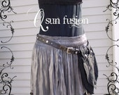 Shiny Mini Silver Slit Coin Skirt