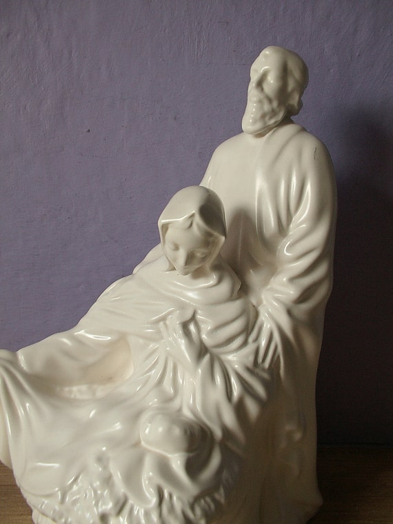 Vintage Holy Family Figurine Atlantic Mold Baby By