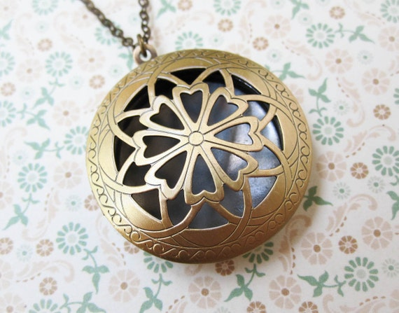 Art Nouveau Locket - Whimsical Jewelry - Filigree Locket - Boho Chic