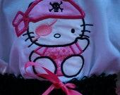 Kitty Pirate Princess Embroidered Shirt