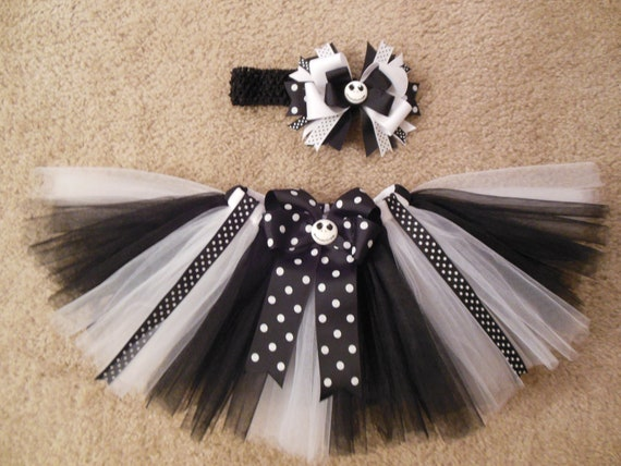 Nightmare before Christmas inspired tutu set, custom made up to a 4t